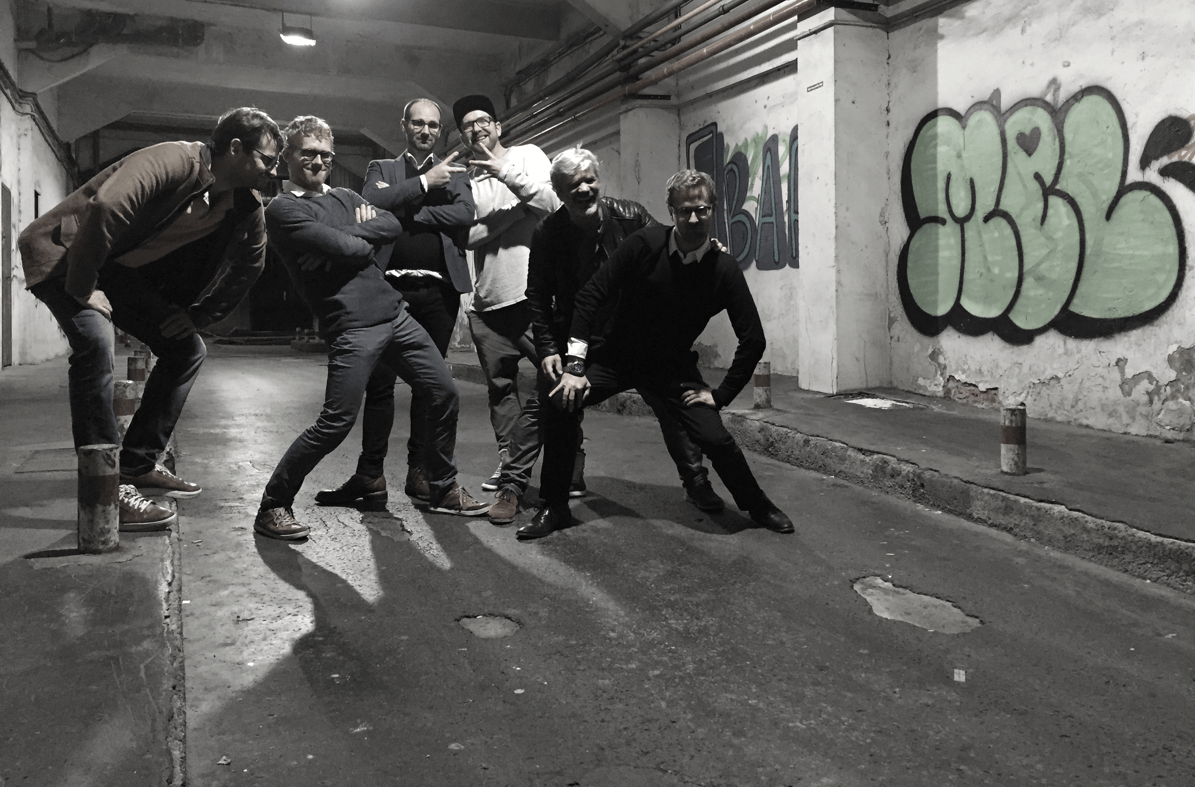 Part of the Imago team during a team-building event in Bilbao. From left to right: Evgeny, Arno, Tom, Micky, Stefan und Jonas.